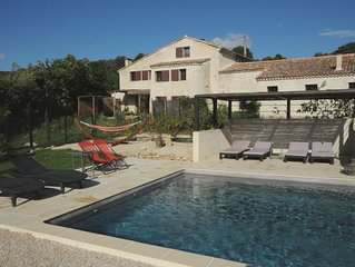 Provence Ventoux eclectic 18th century farmhouse near river with pool