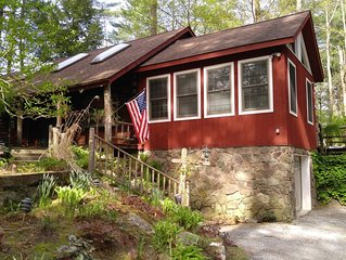 Log style home 4 miles to Catamount with fitness room