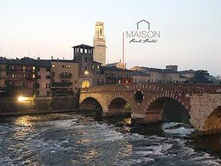 Maison Ponte Pietra - un piccolo terrazzo con la vista più bella di Verona