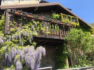 romantica villetta indipendente con vista sul lago, con patio  e bella terrazza