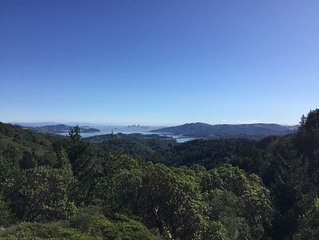 Private four bedroom home, minutes from town, views of SF