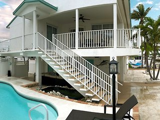 Weekly & Montly Rentals - Beautiful Waterfront Keys Home w/ Private Heated Pool