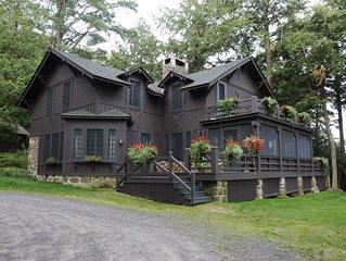 Saranac Lake  / Lake Placid Area Adirondack Great  Camp Retreat