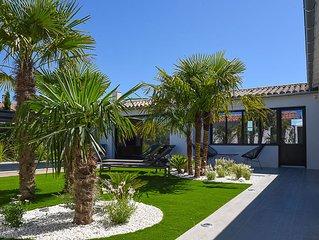 Maison neuve 2018 piscine chauffée centre Bois Plage jardin paysagé parking priv