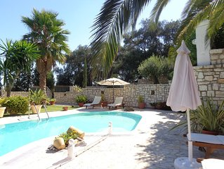 Private Villa With Swimming Pool, Terrace With  Sea View And Remarkable Garden.