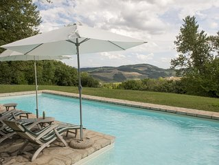 Country Stone Farmhouse with Private Pool