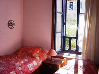Beautiful antique Halki House with sea views to Rhodes