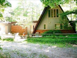 Unique a-Frame Cottage on Quiet East Shore of Big Glen Lake