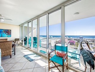 Sunlit condo with extraordinary view, uncrowded beach & minutes from downtown!