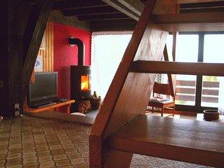 Ferienhaus auf drei Ebenen mit 2 Schlafebenen und Balkon