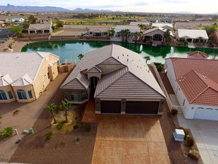 New Home in Gated Los Lagos Community on Man-made Lake, next to Golf Course