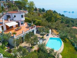 A stunning terraced villa with breathtaking views across the Amalfi Coast