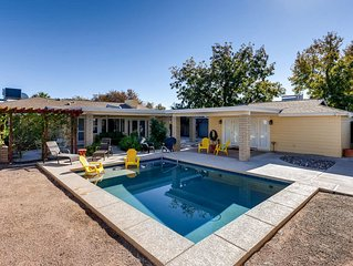 Uptown Mid-Century Modern Retreat with Heated Pool