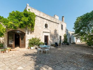 Luxury completely private Historic Masseria with Large Pool  in Ceglie Messapica