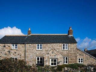 Beautiful spacious Cornish House, sea-views, beaches, walking - from £95 night