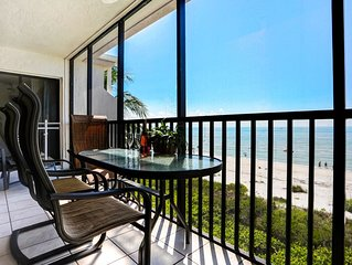 Luxury Direct Beachfront 2BR+Den w/2 Free Bikes & Wifi Sundial K405