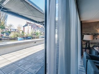 Bright and modern two bedroom apartment with canal view.
