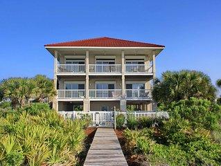 FREE BEACH GEAR! Beachfront Plantation, Pool, Elevator, Private Boardwalk, 5BR/2