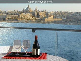 5* Your Perfect Holiday - 3 bedroom Apartment, Tas-Sliema, Malta