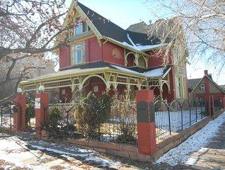 Unique Historic Victorian Mansion near Downtown Denver, Sleeps 16.