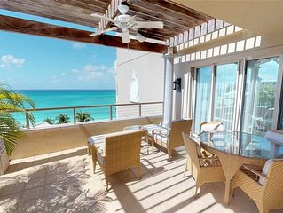 Elegant Ocean View Apartment steps from 7 Mile Beach located at The Ritz-Carlton
