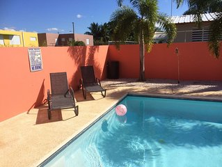 3 bedroom Villa with Private Pool near Poblado Boqueron, sleeps 8-10.
