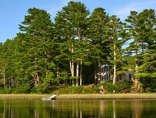 Sunlit Comfort on Private Waterfront - Complete Tranquility Minutes from Town