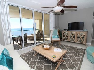 Posh Beach Colony Penthouse- Beach Chic Decor & Direct Gulf Views!
