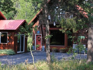 Beautiful cabin nestled in the whispering Aspens of Island Park, Idaho.