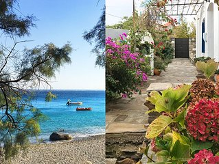 Old Ikarian stone house by the sea, beautifully restored, with all amenities