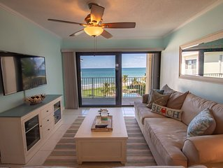 Oceanfront! Views from every room! 2/2 recently updated in beautiful Vero Beach