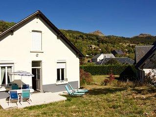 maison avec superbe vue sur les volcans du massif du Sancy