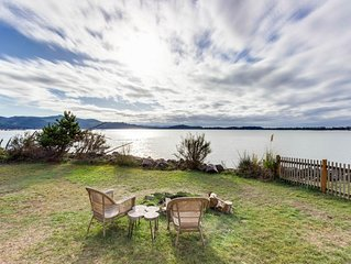 Bayview home w/ hot tub, large yard, bayfront deck, and gorgeous views!