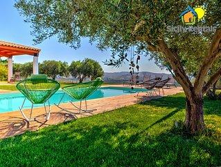 Splendida villa con piscina con vista sulla Foce del fiume Platani