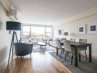 Airy 1BR in Brookline