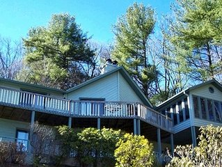 Mountain View from deck - near golf course- 1 to 12 guests- 4 BR/4BA