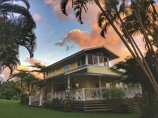 Romantic Hana Hideaway,  Big Ocean Views, Old Hawaii Charm
