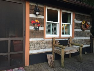 ADORABLE QUAINT CABIN /WATERFALL BY DECK/GREAT LOCATION/IMMACULATELY CLEAN!