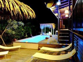 Belle villa bois ouverte sur la campagne 10/12 personnes piscine
