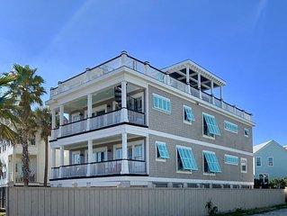 Vitamin Sea Oasis! Downtown Isle of Palms, Ocean view, 6 BR 5.5 bath, Sleeps 14