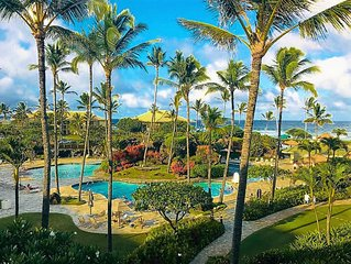 ~4 Stars Lihue Oceanfront Resort,  free Wine+Chocs+Snacks~