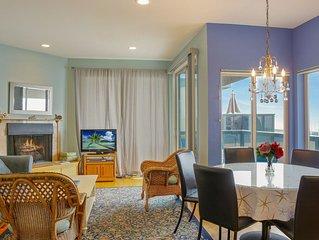 Ocean view condo w/ deck, balcony & shared pool - walk one block to the beach!