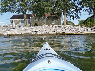 Close to Tibbetts Point Lighthouse, , newly renovated, directly on the shore of