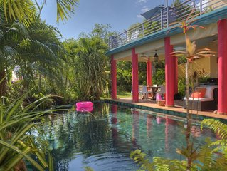 Gorgeous Spacious Home & Pool, Sumptuous Gardens & Caribbean Views