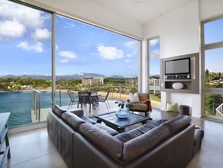 Best on the Bay!  Kalapaki Bay Standout Location. Contemporary, Clean, Open