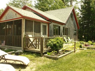 Year-round shorefront cottage, views of Cadillac Mountain, easy access to Acadia