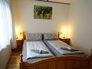 Ferienwohnung 1, 48qm, 2 Schlafzimmer, max. 4 Personen