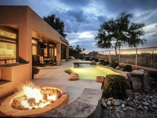 Resort home On golf course wiIh heated pool/Jacuzzi < out door tv + City  views