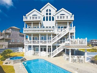 Relaxing Oceanfront Getaway w/ Elevator, Pool, Hot Tub, Game Rm, Dog-Friendly