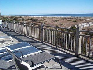 Oceanfront 5 bdr/3 ba, spectacular open views of dunes, beach and ocean